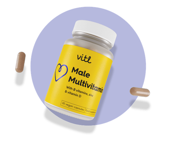 Male Multivitamin - A comprehensive daily multivitamin tailored to support overall male wellbeing
